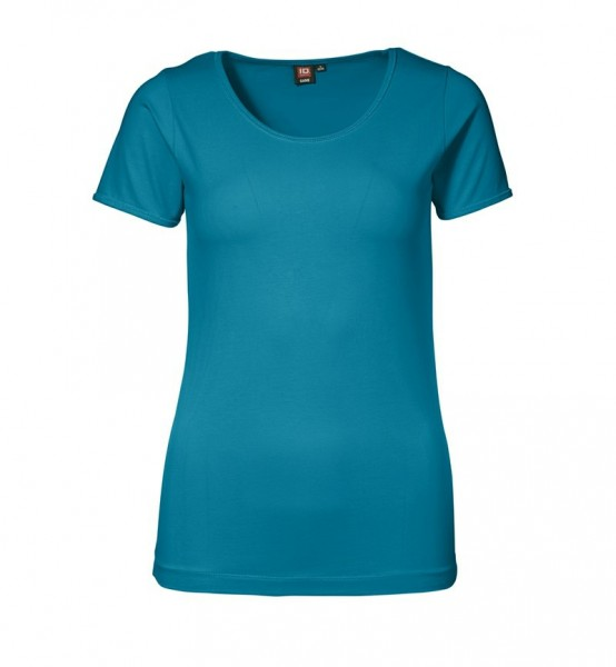 Damen Stretch T-Shirt Rundhals