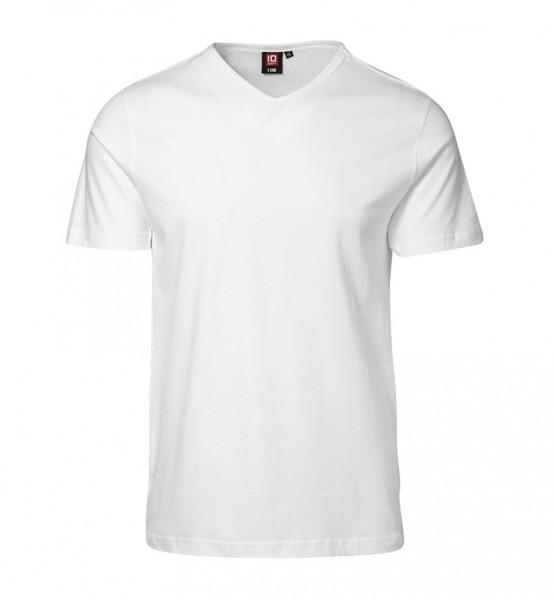 Herren T-Time T-Shirt körpernah V-Ausschnitt